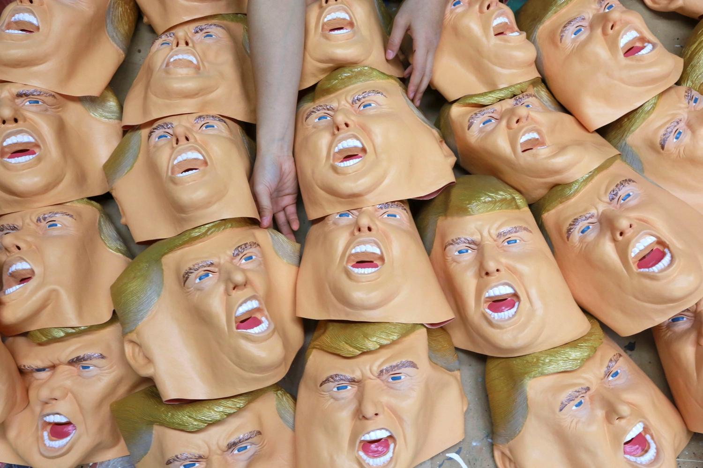 APTOPIX Japan Trump Masks