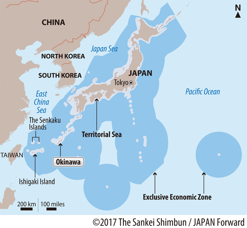 Map of Japan and EEZ