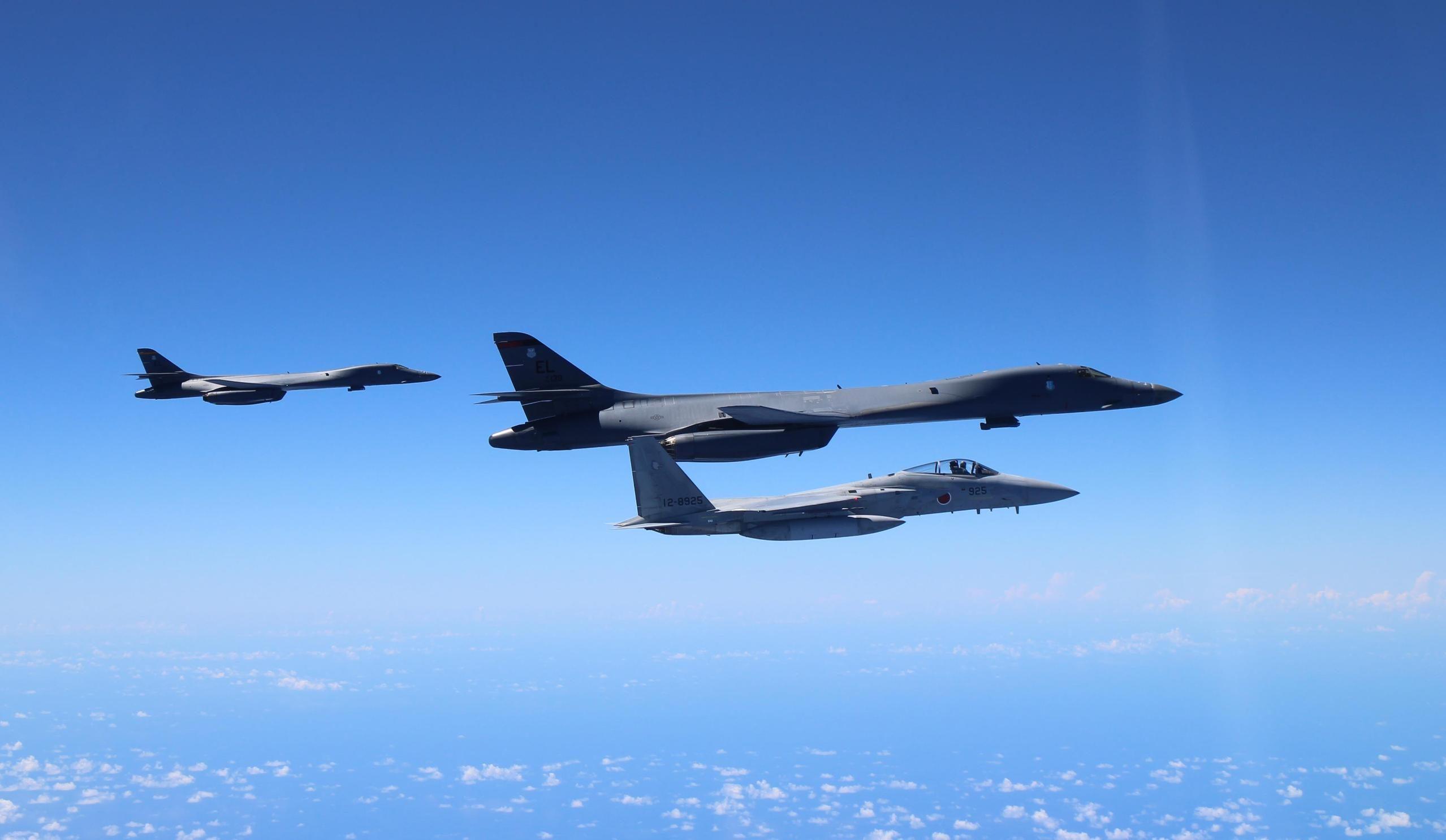 US-Japan Air Drills near Senkaku Islands