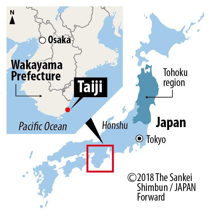 Map of Taiji, Wakayama