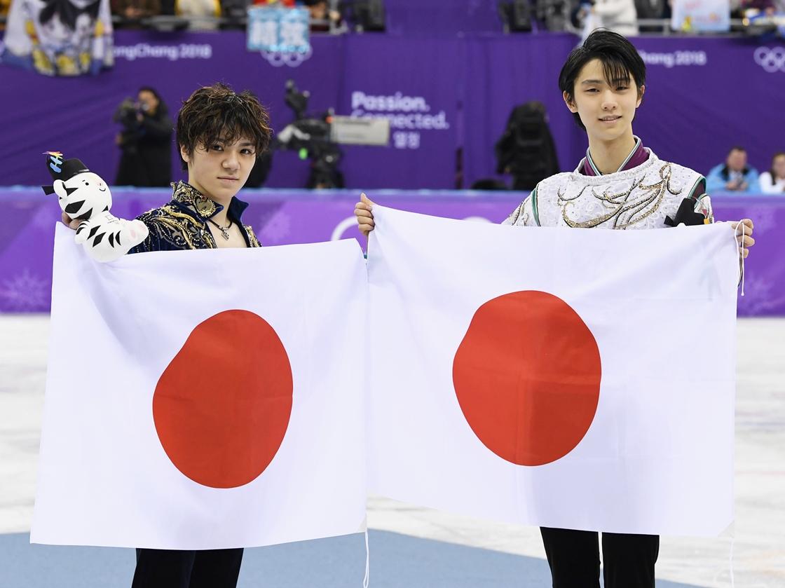 Hanyu Yuzuru and Uno Shoma finish gold silver in men's figure skating singles