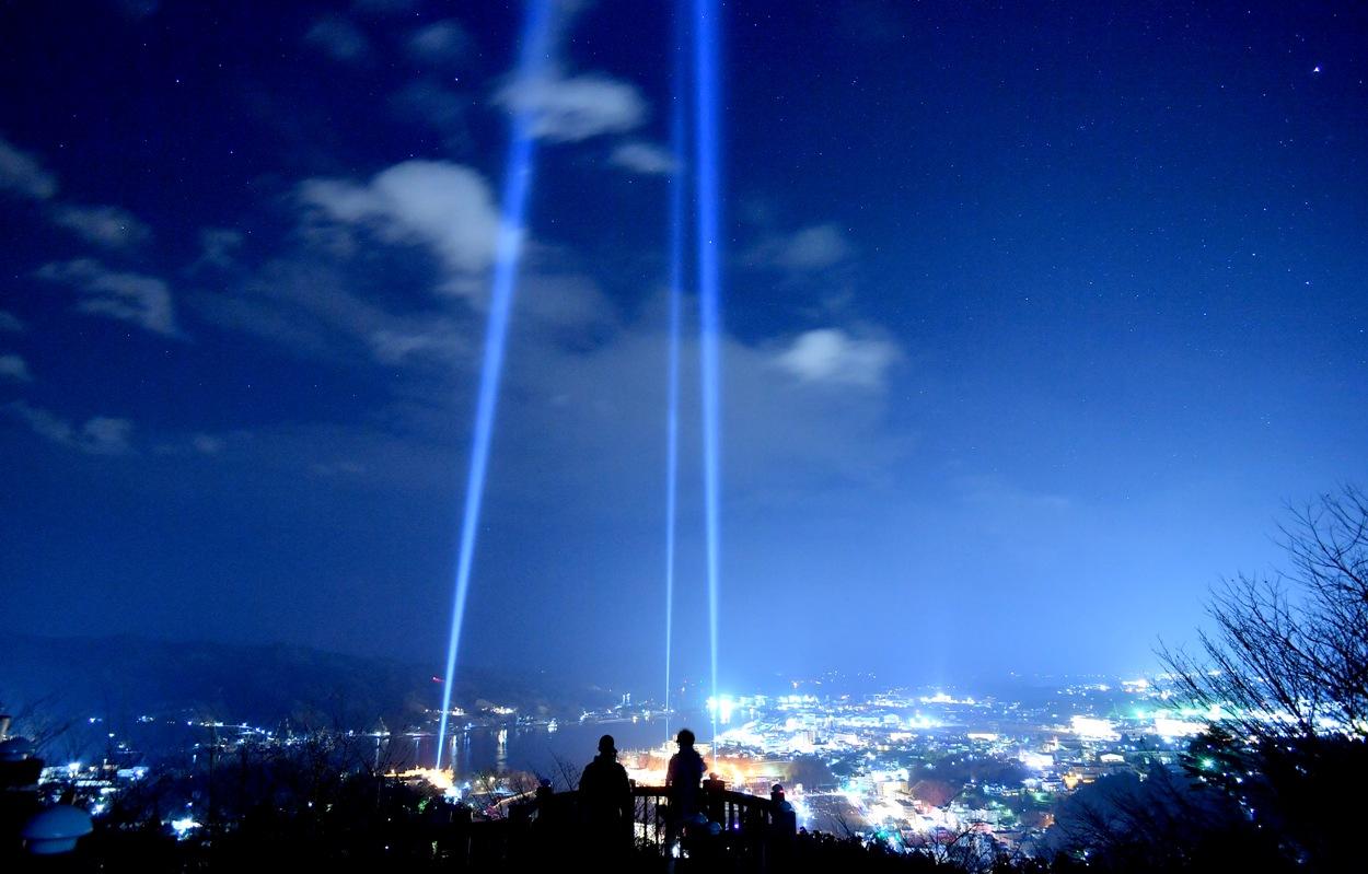"""Lightning"" memorial monument in Kesennuma Bay"