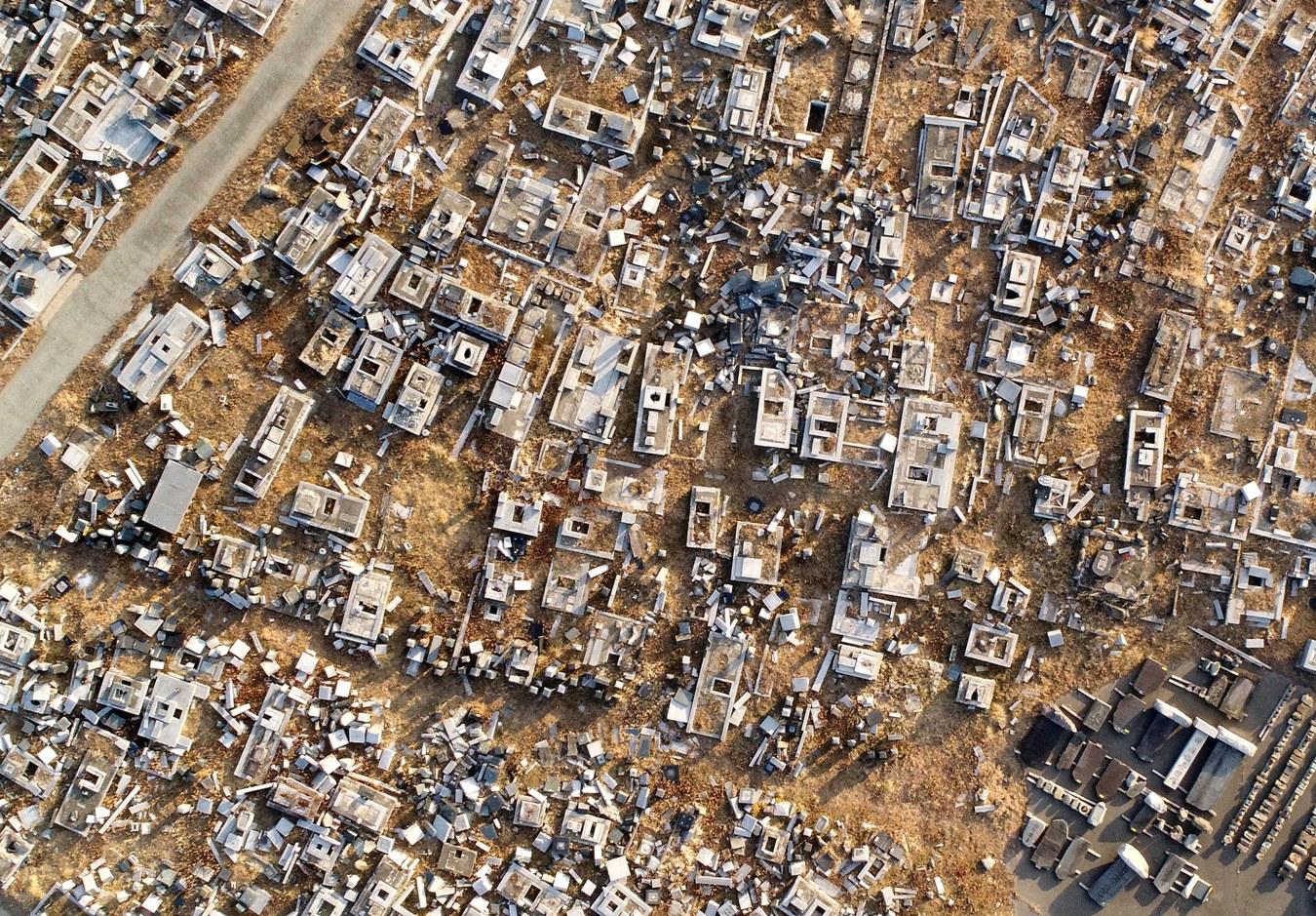 Destroyed Tombstones in Namie