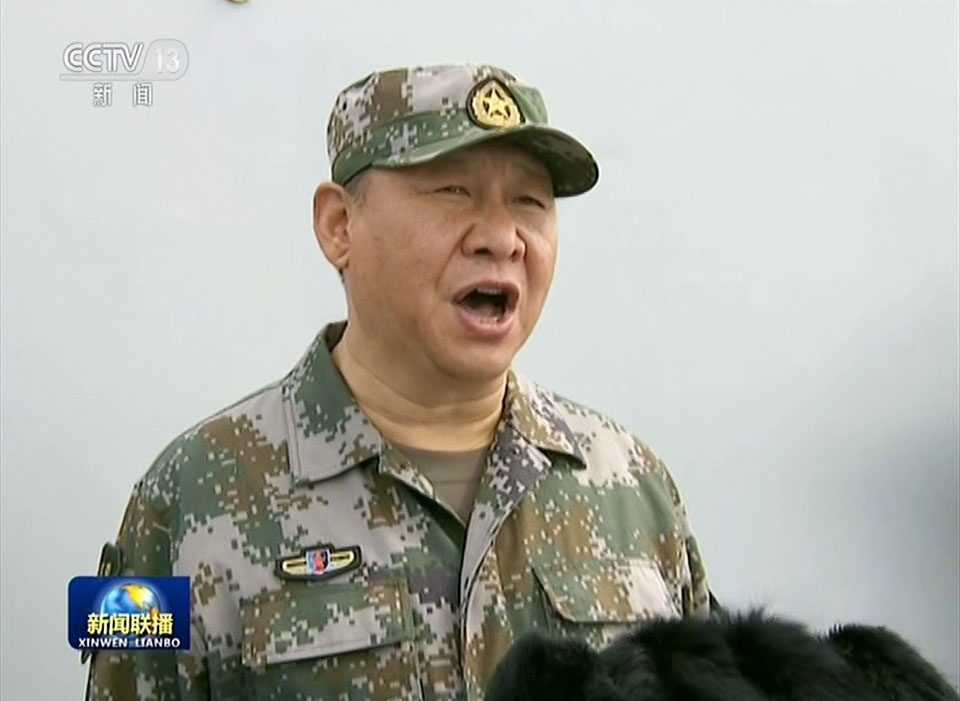 Xi Jinping in the military drill