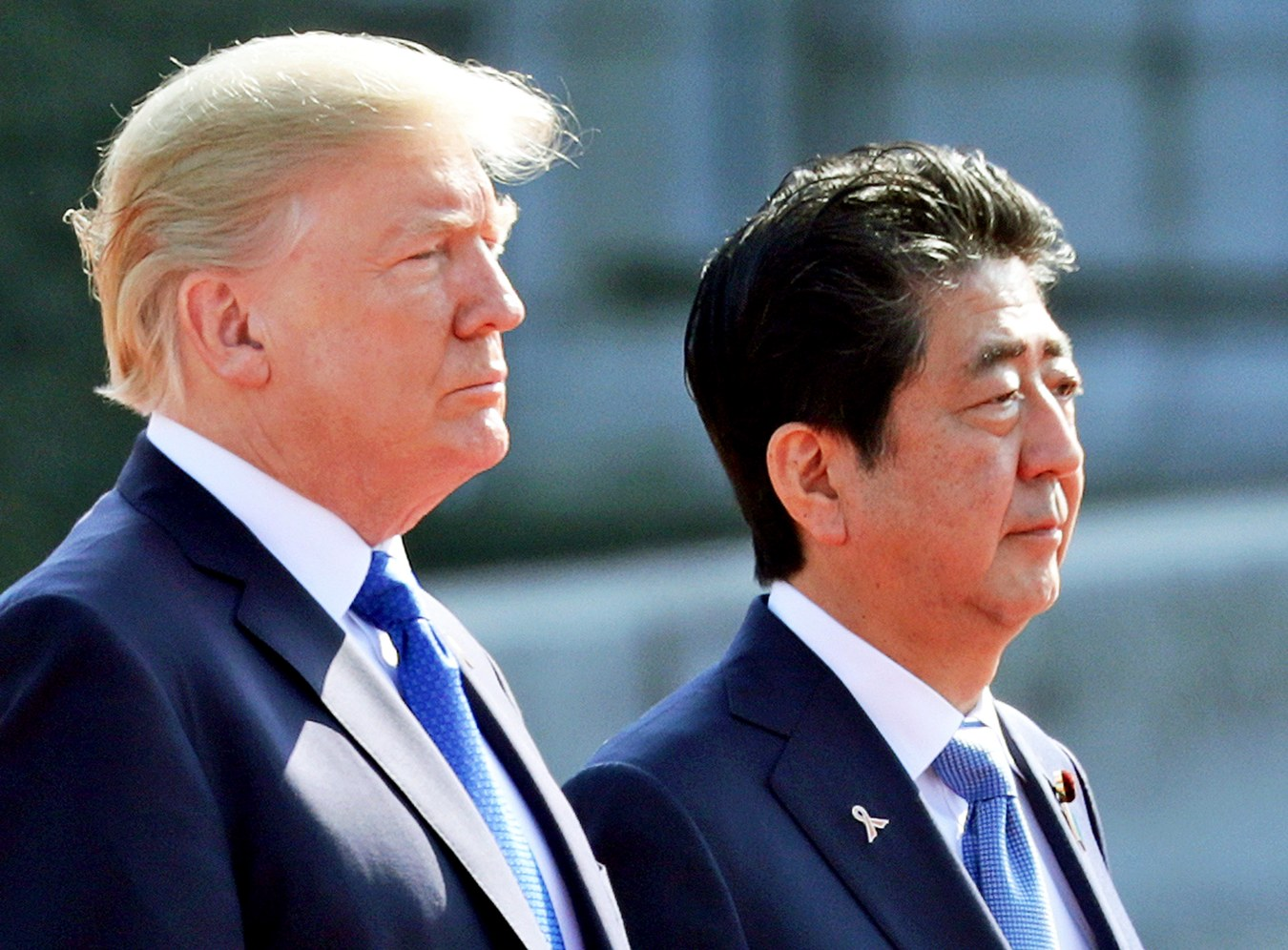 Prime Minister Shinzo Abe and President Donald Trump