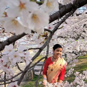 In Indian attire amidst Sakura - PURBA