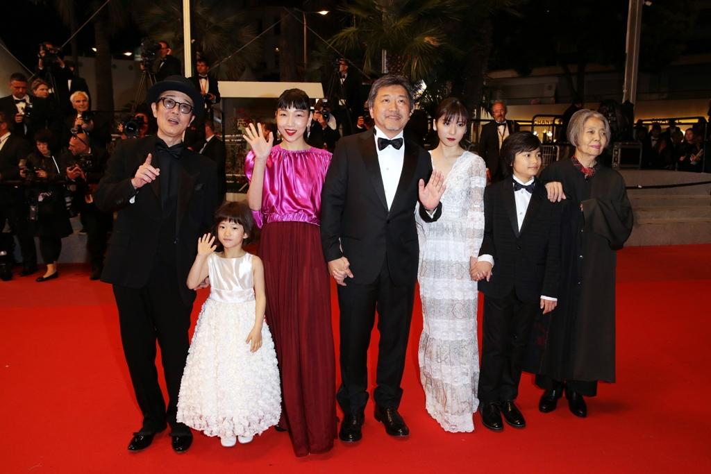Hirokazu Kore-eda and actors