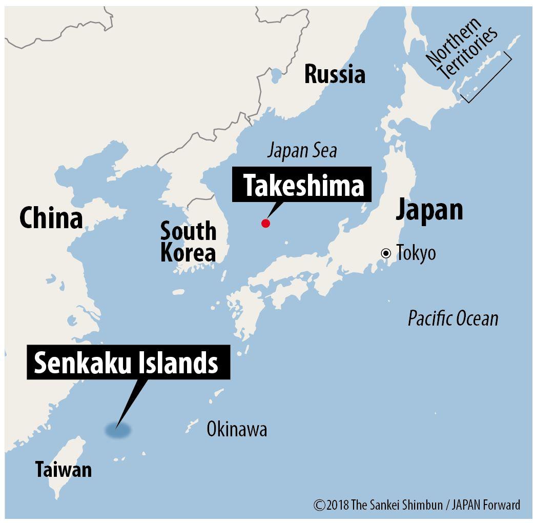 【JF】Map Senkaku Islands and Takeshima