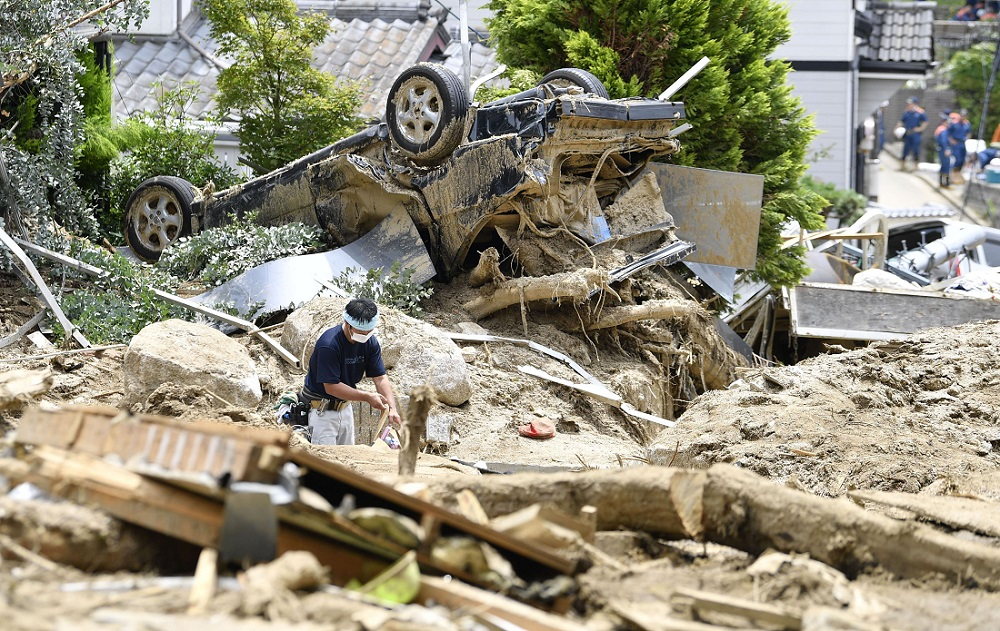 Death Toll Reaches 200 in Western Japan Floods, Dozens Still Missing