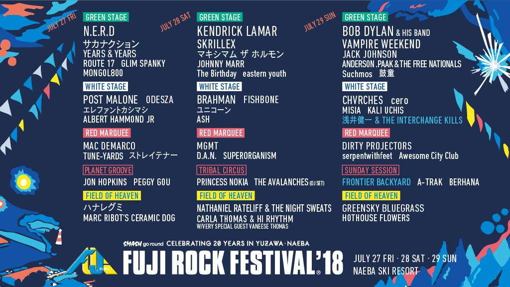 Fuji Rock Festival 2018: Must Watch Japanese Artists