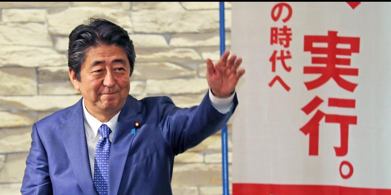 Prime Minister Abe Announces LDP Bid As He Leads Sankei-FNN Poll