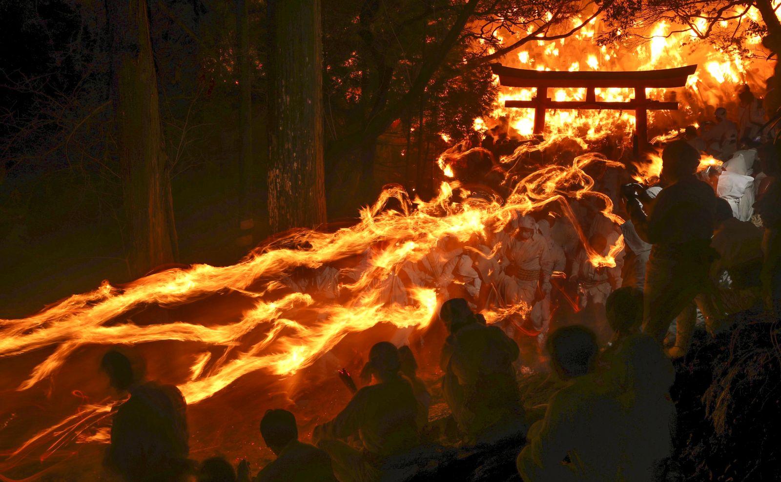 Japan Wakayama Shingu Kamikura Shrine Fire Festival 2019 012
