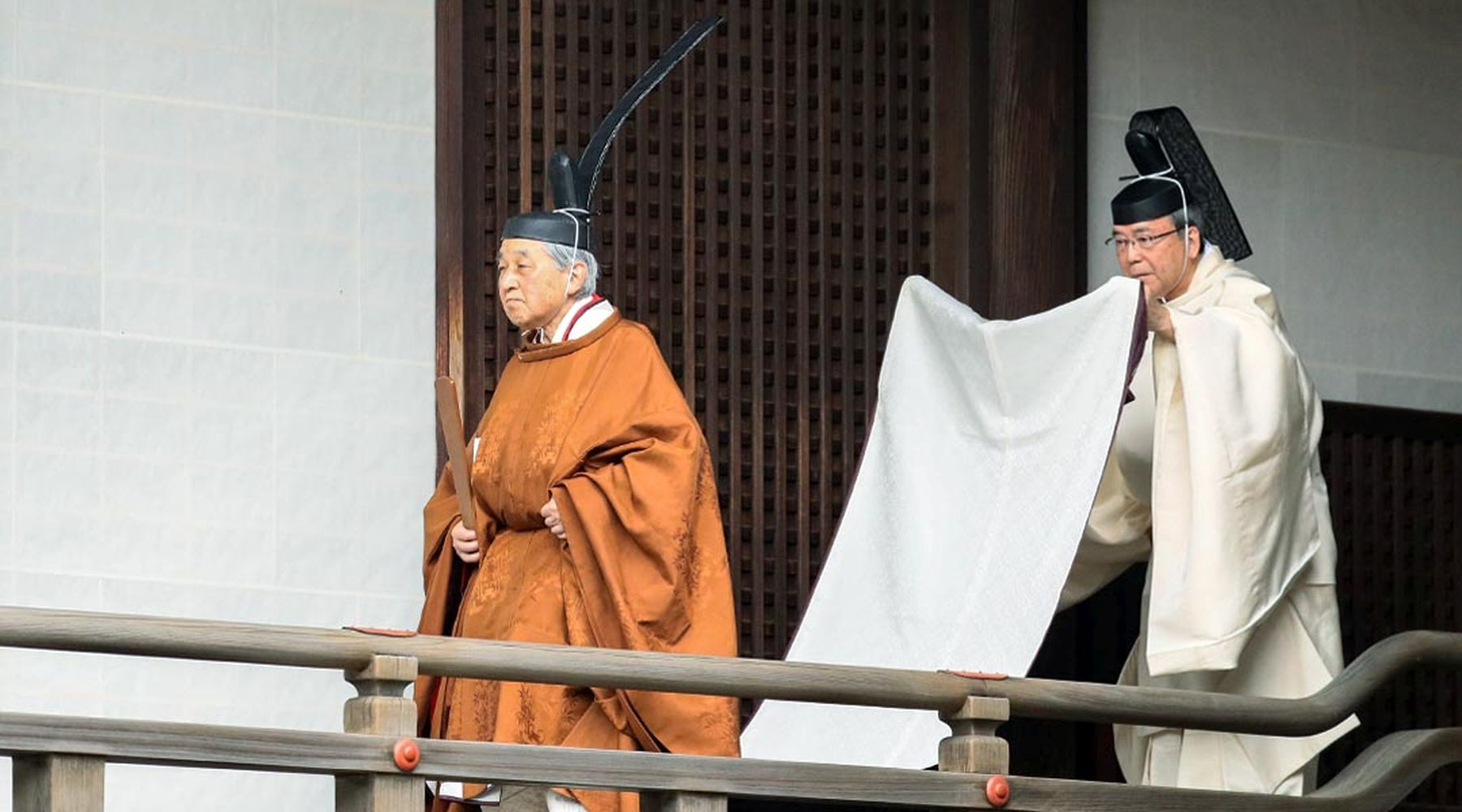 Japan and Emperor on the Day of  Abdication