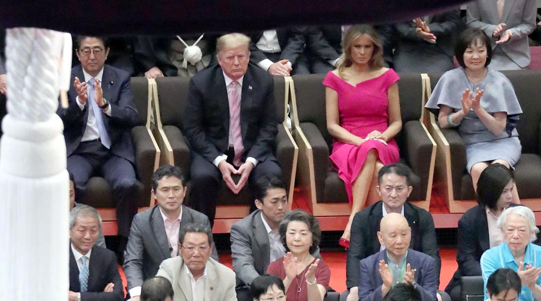 President Trump U.S. Cup to Japan Sumo Wrestler 004