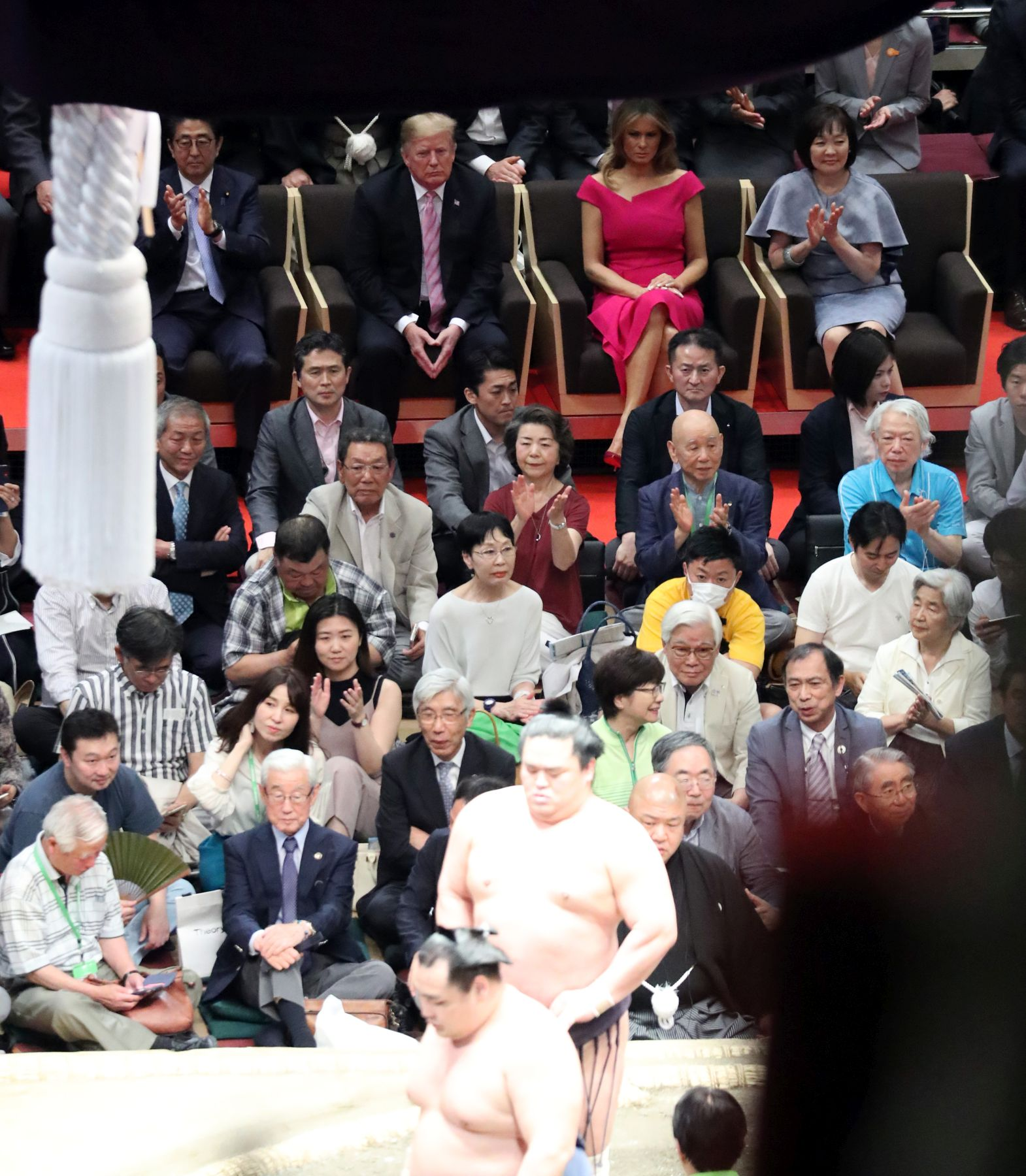 President Trump U.S. Cup to Japan Sumo Wrestler