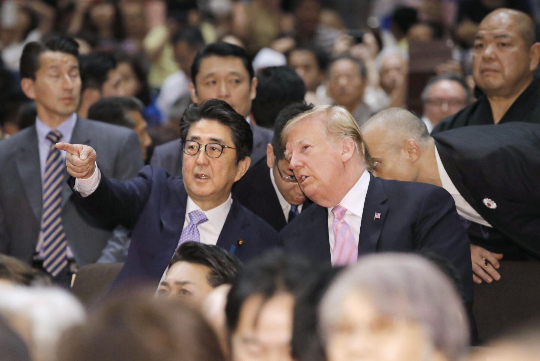 President Trump U.S. Cup to Japan Sumo Wrestler 008