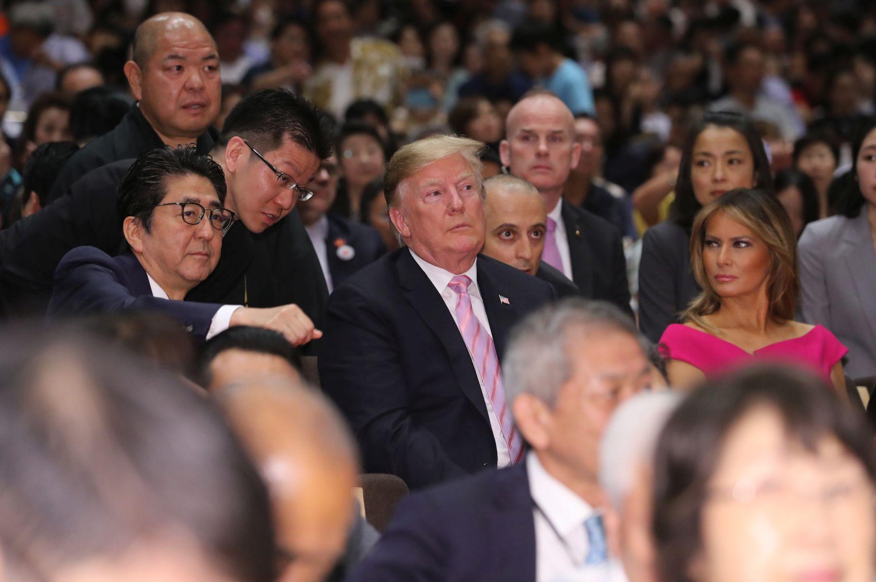President Trump U.S. Cup to Japan Sumo Wrestler 010