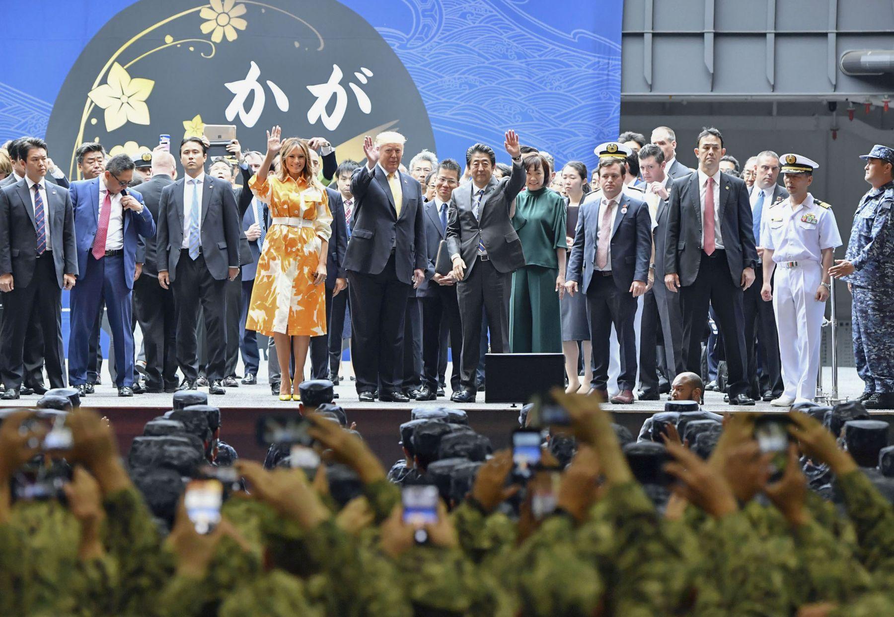 U.S. President Trump Visit to Japan Last day on Board of JSDF Kaga 015