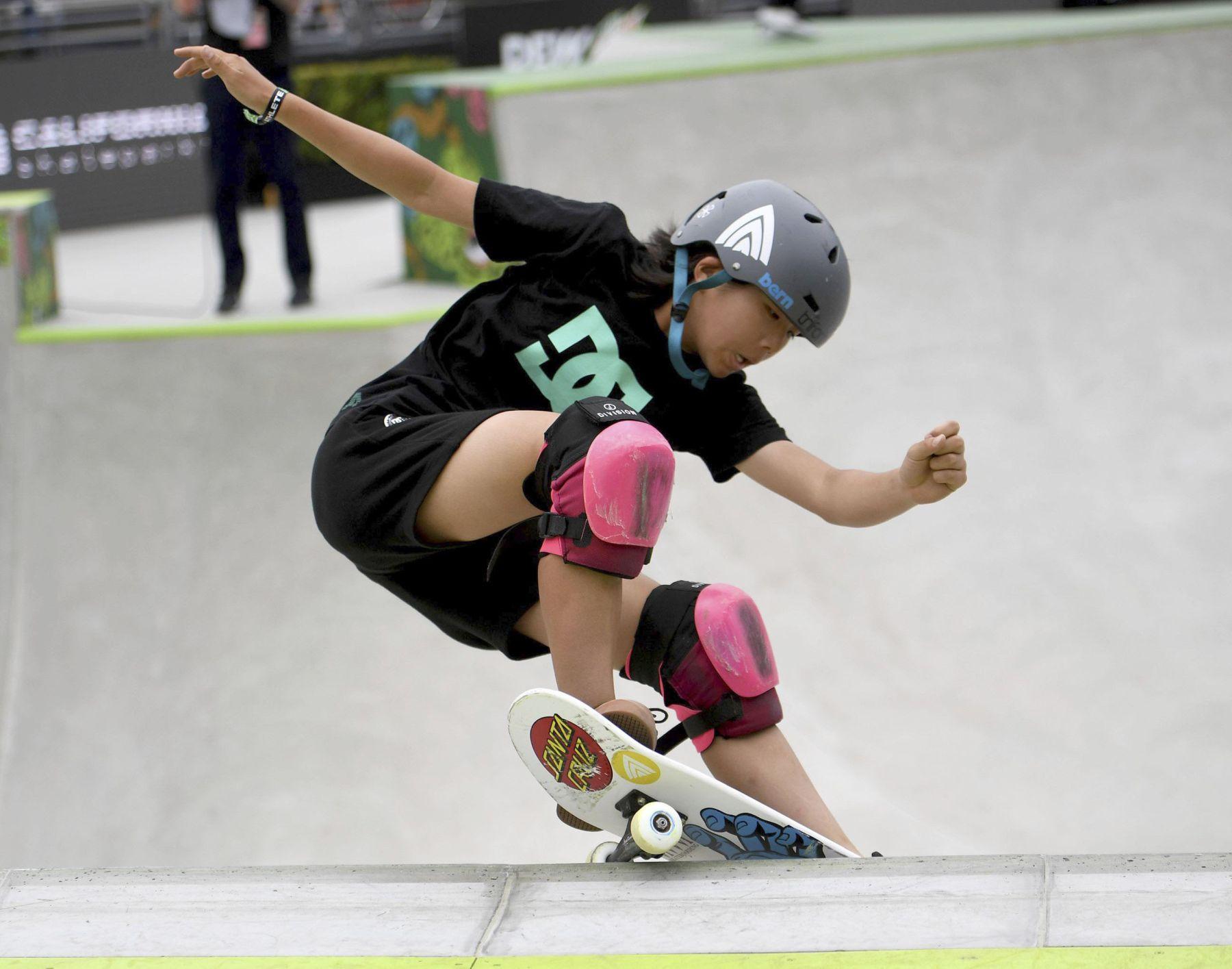 Misugu Okamoto Japan Wins in the Womens Park Skateboard Final 006