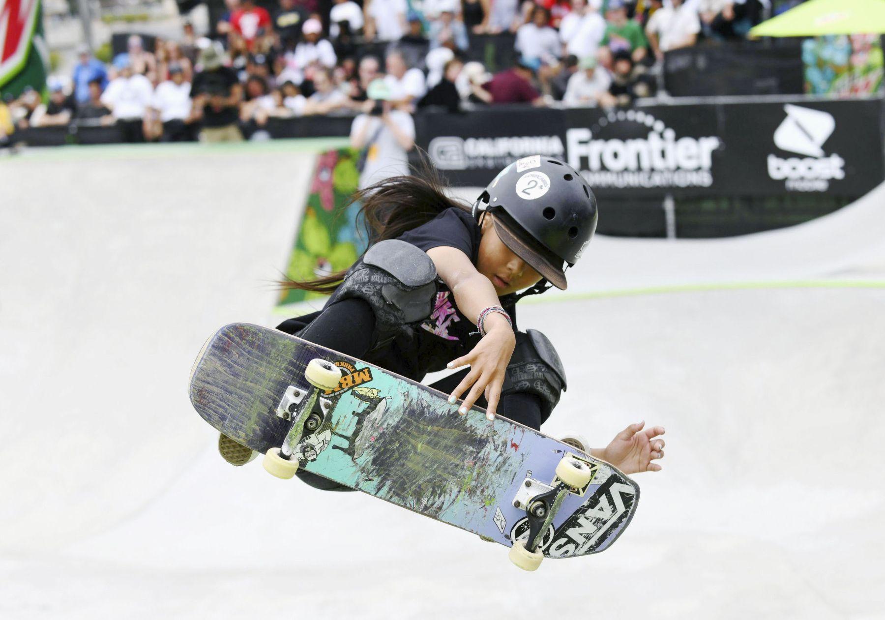 Misugu Okamoto Japan Wins in the Womens Park Skateboard Final 008