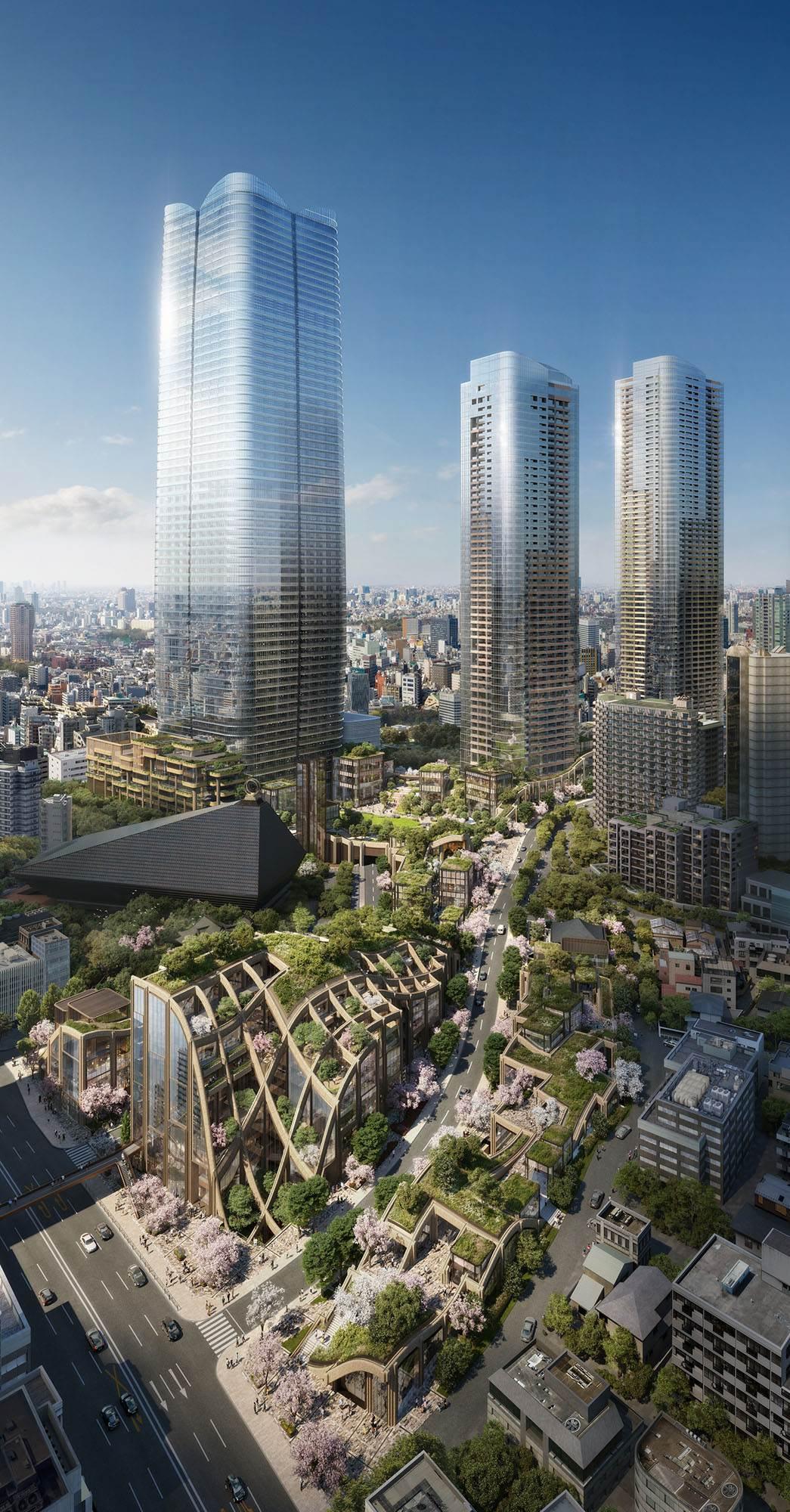 Mori Building's latest urban redevelopment project for the Toranomon and Azabudai area (Mori Building Co.)