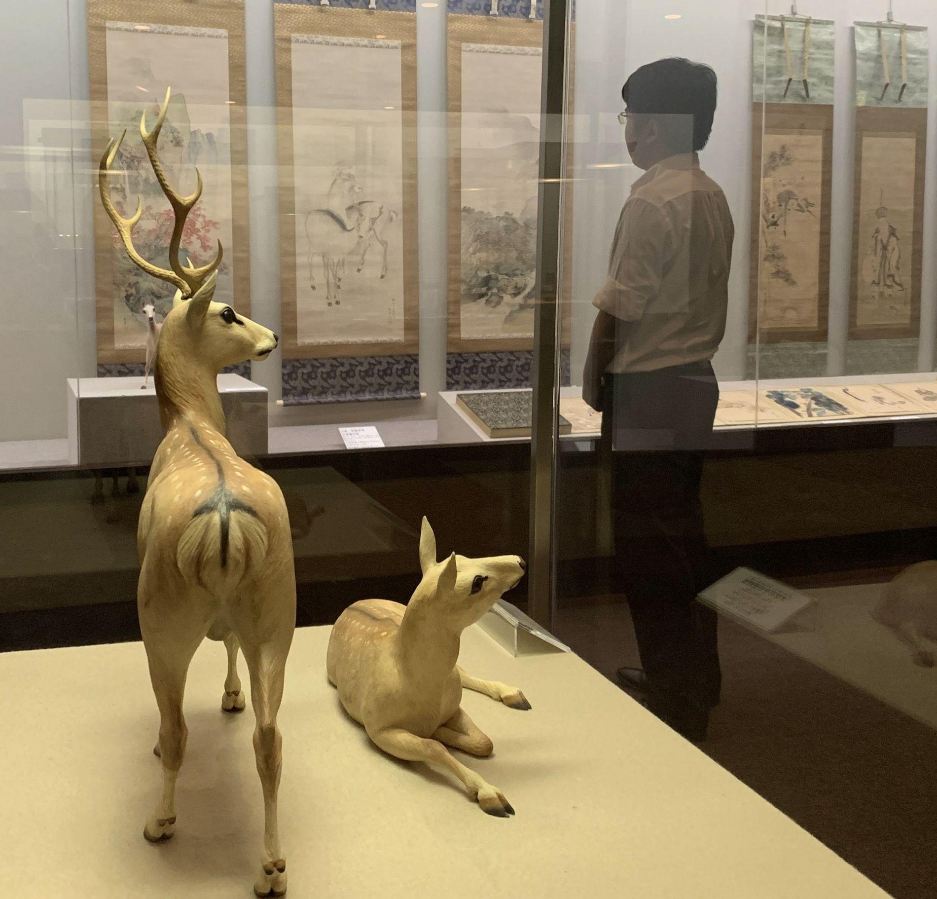 Japan Hakushika Memorial Sake Museum Exhibit Animals Depicted in Japanese Art 003