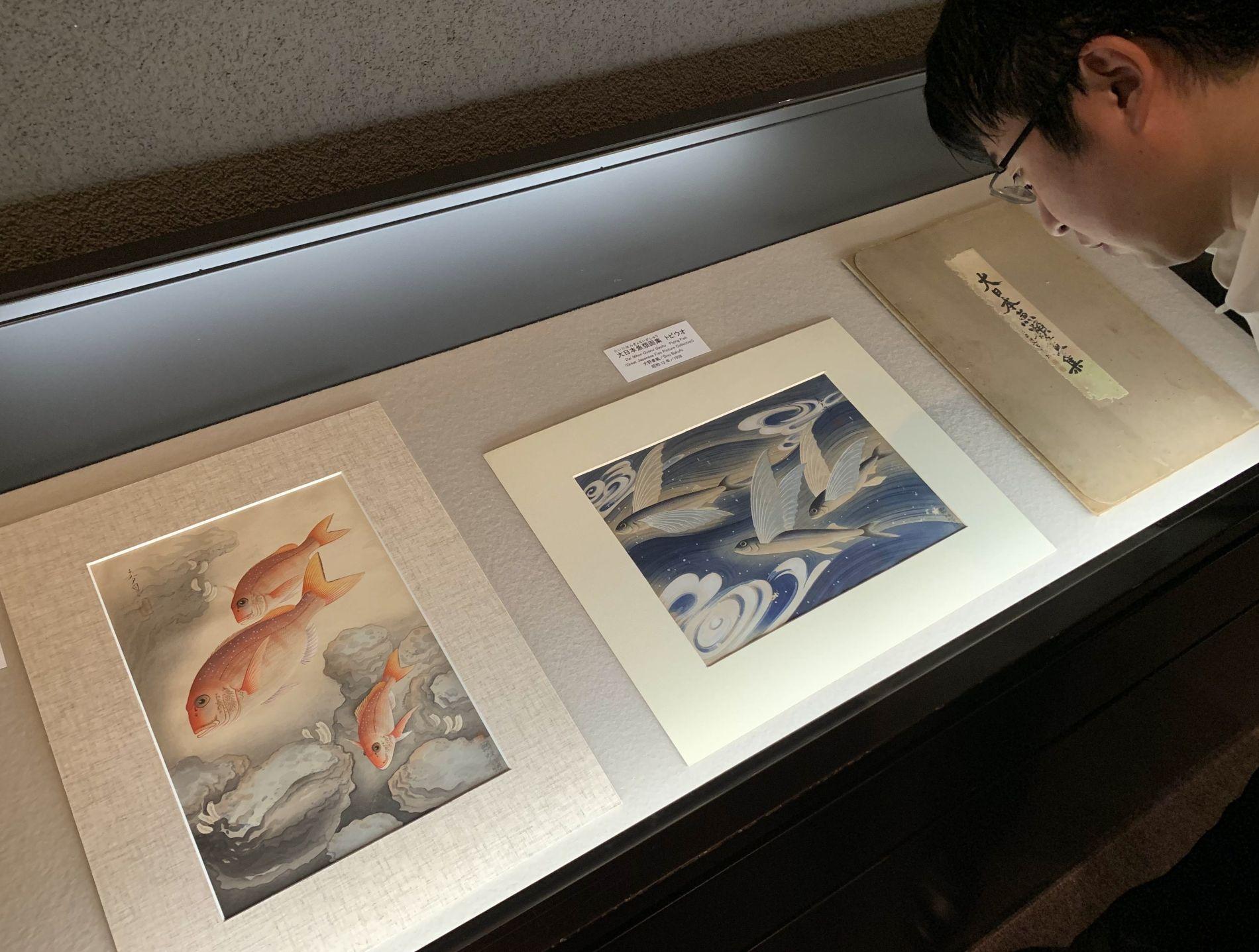 Japan Hakushika Memorial Sake Museum Exhibit Animals Depicted in Japanese Art 005