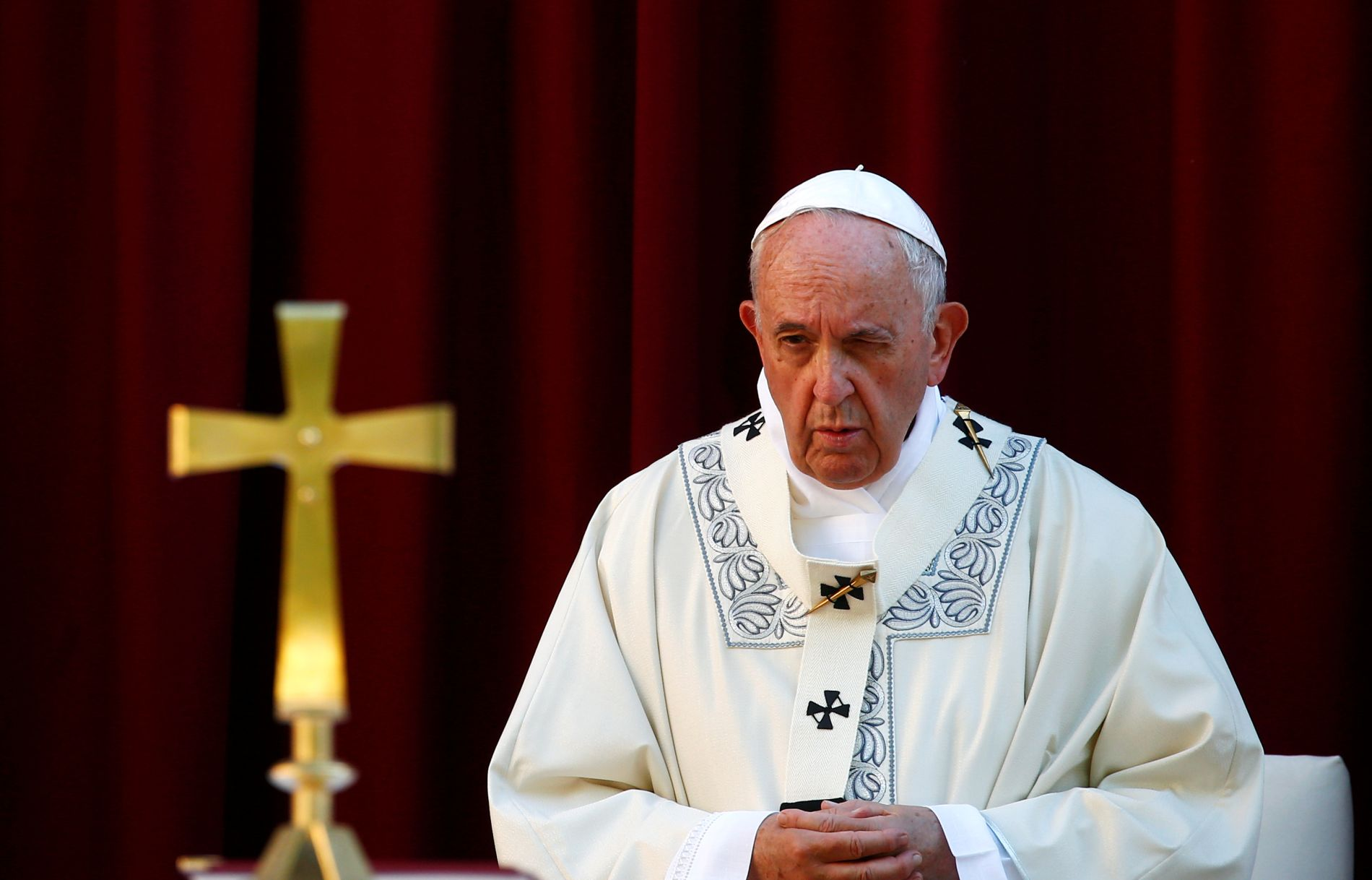 Pope Francis holds traditional Corpus Christi feast Mass in Rome