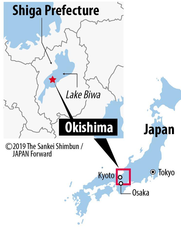 【JF】Map Okishima, Lake Biwa