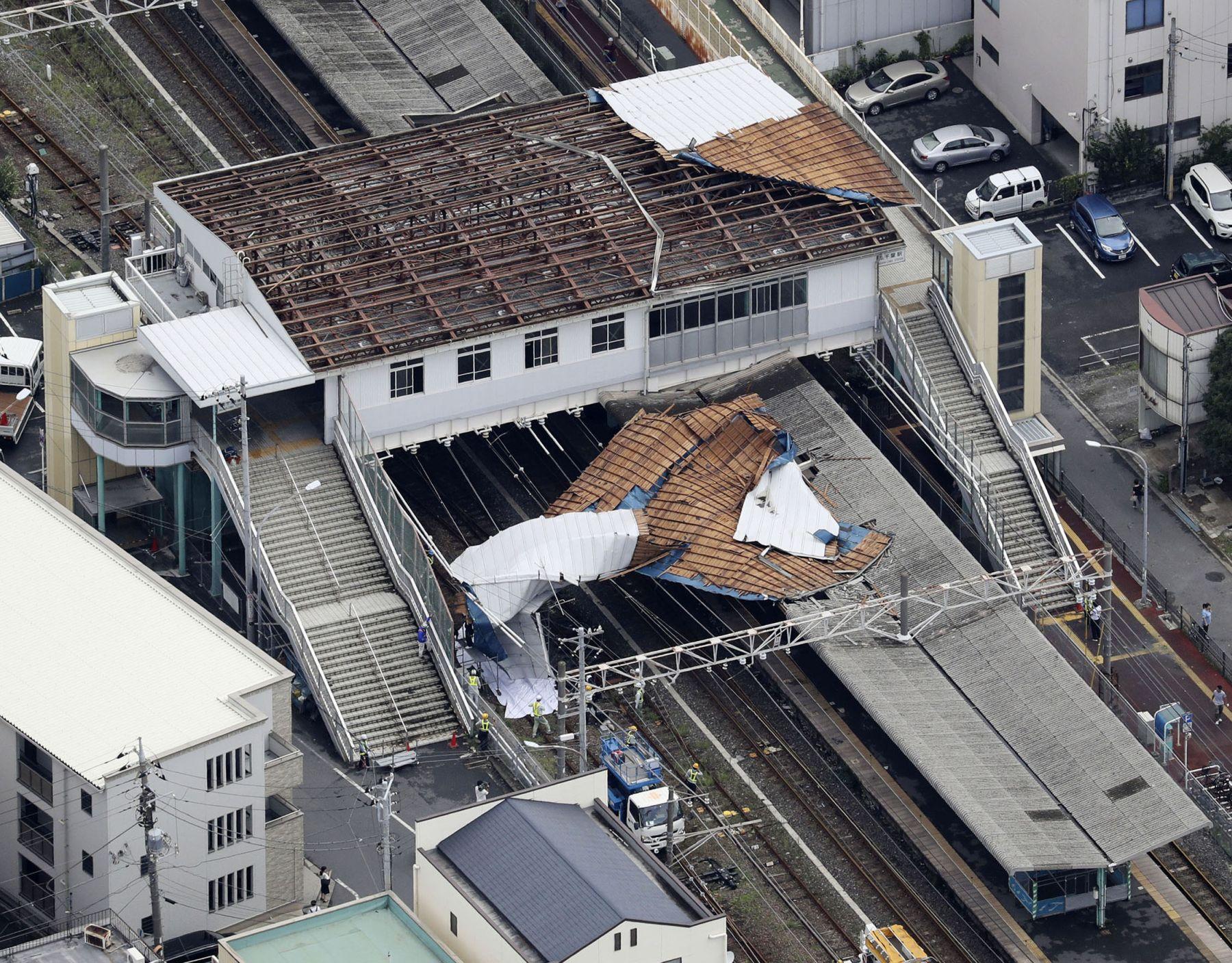 Japan Metro Tokyo Aftermath of Typhoon Faxai 005