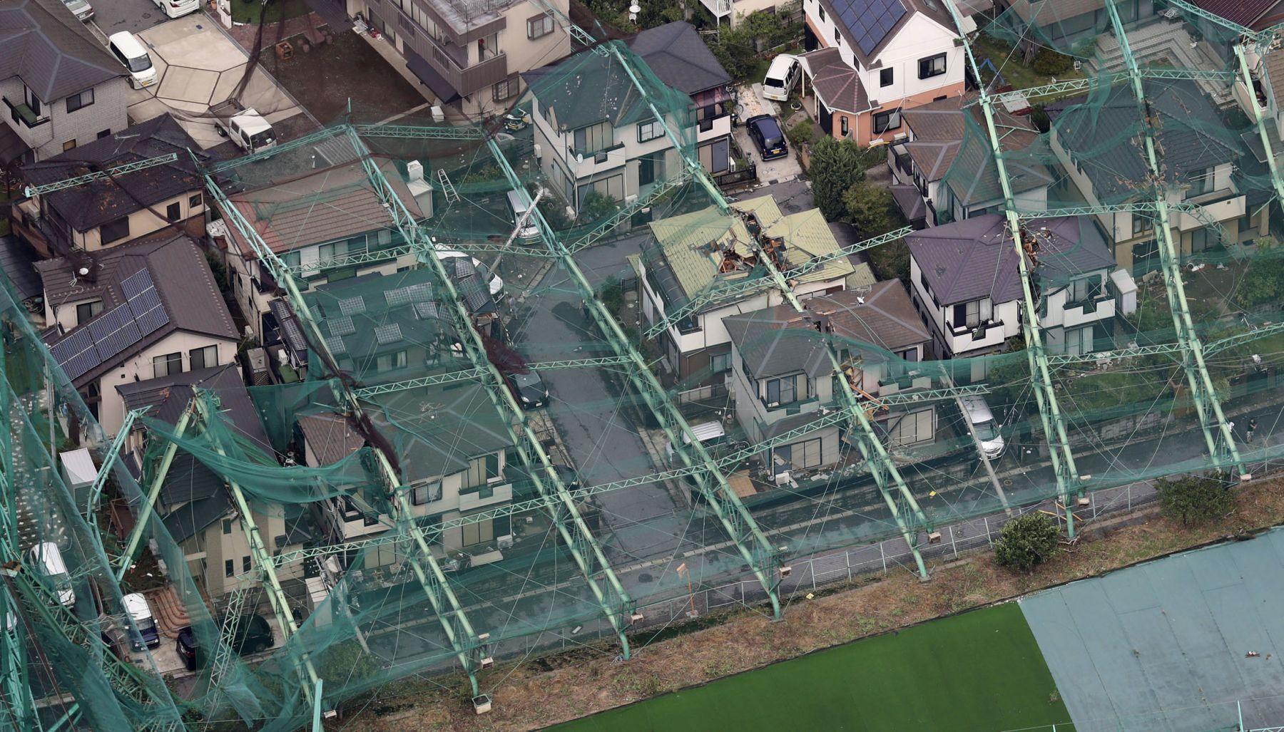 Japan Metro Tokyo Aftermath of Typhoon Faxai 008