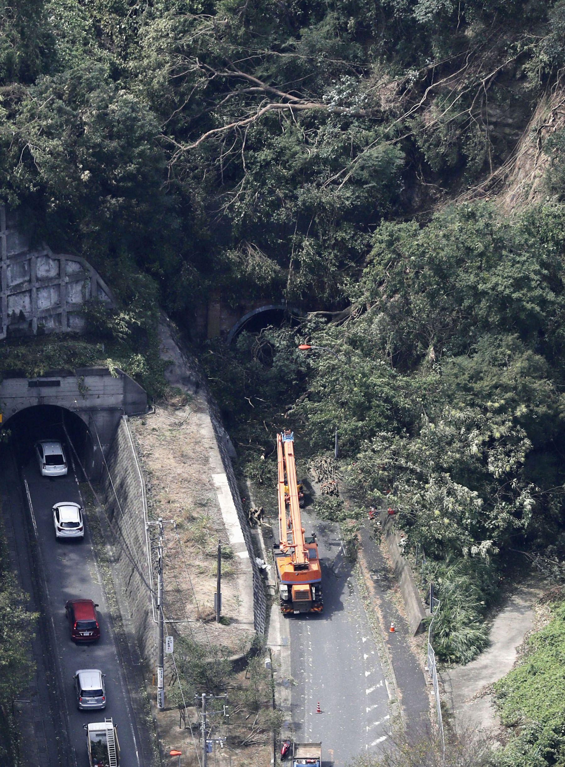 Japan Metro Tokyo Aftermath of Typhoon Faxai 016