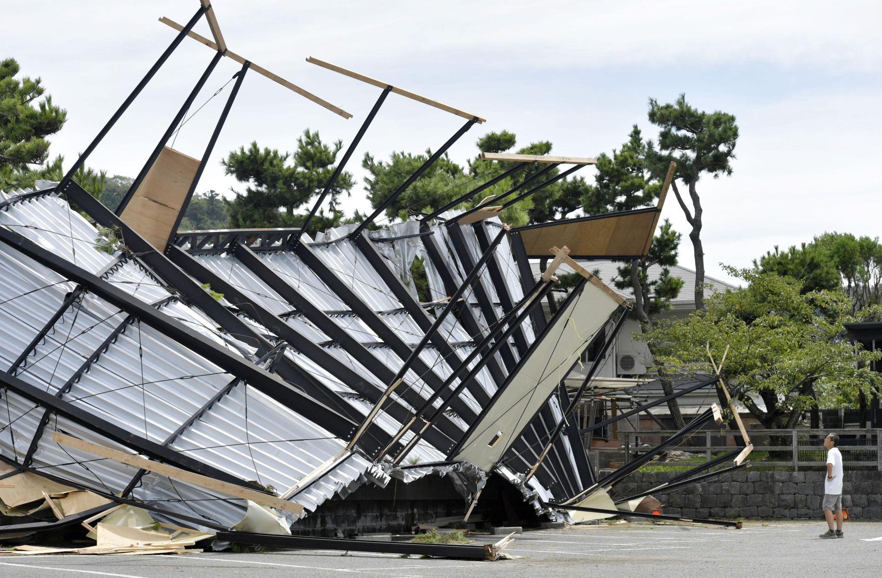 Japan Metro Tokyo Aftermath of Typhoon Faxai 018