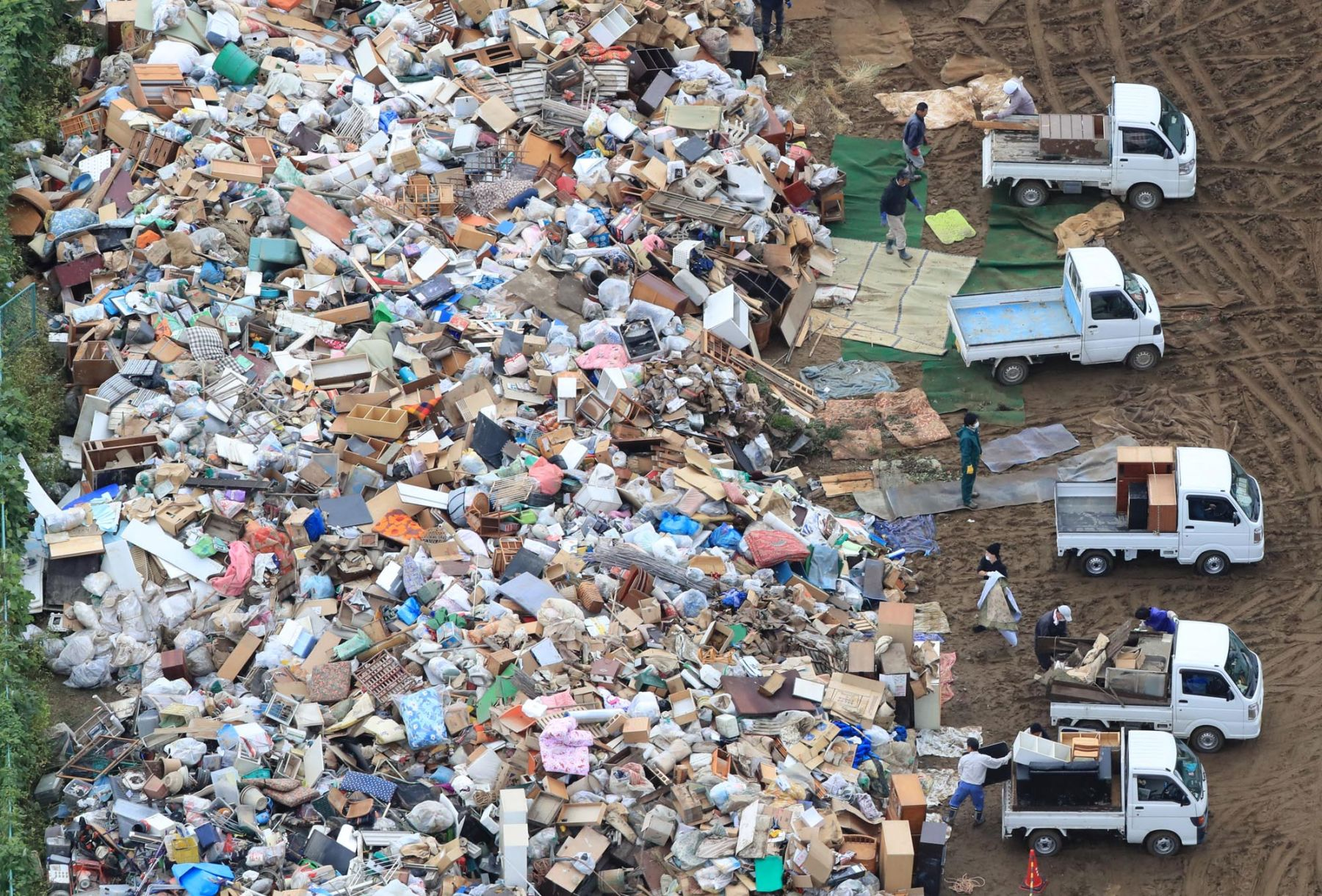 Aftermath of Super Typhoon Hagibis in Japan