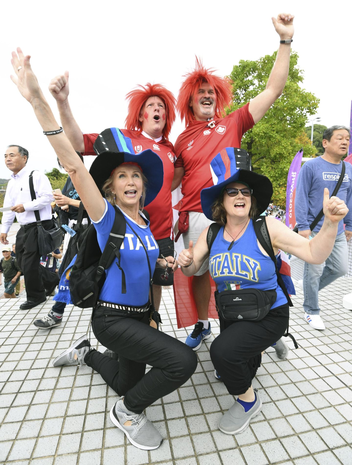 Fans at the Rugby World Cup 2019 in Japan 012
