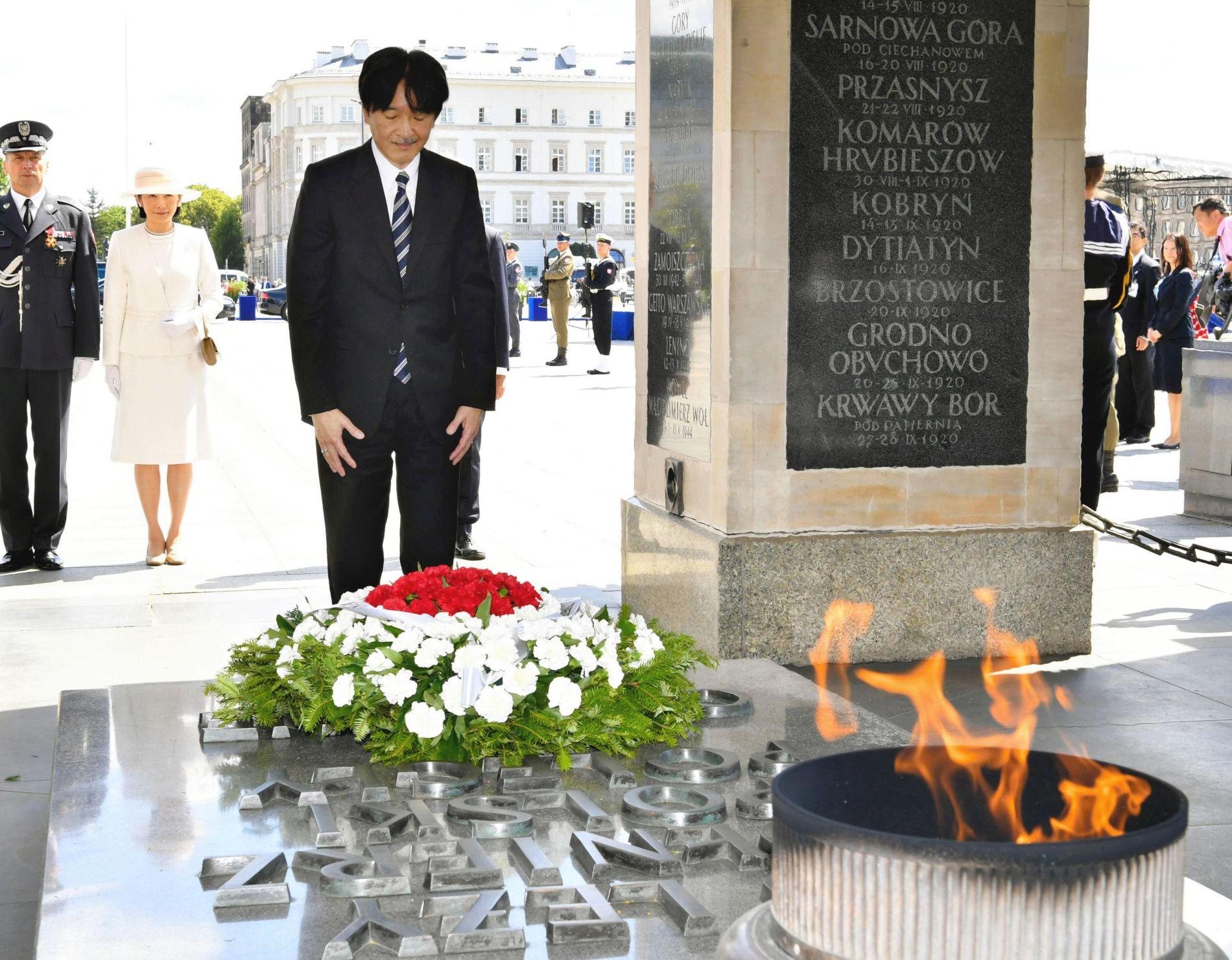 Japan Crown Prince and Princess Visit Poland 002