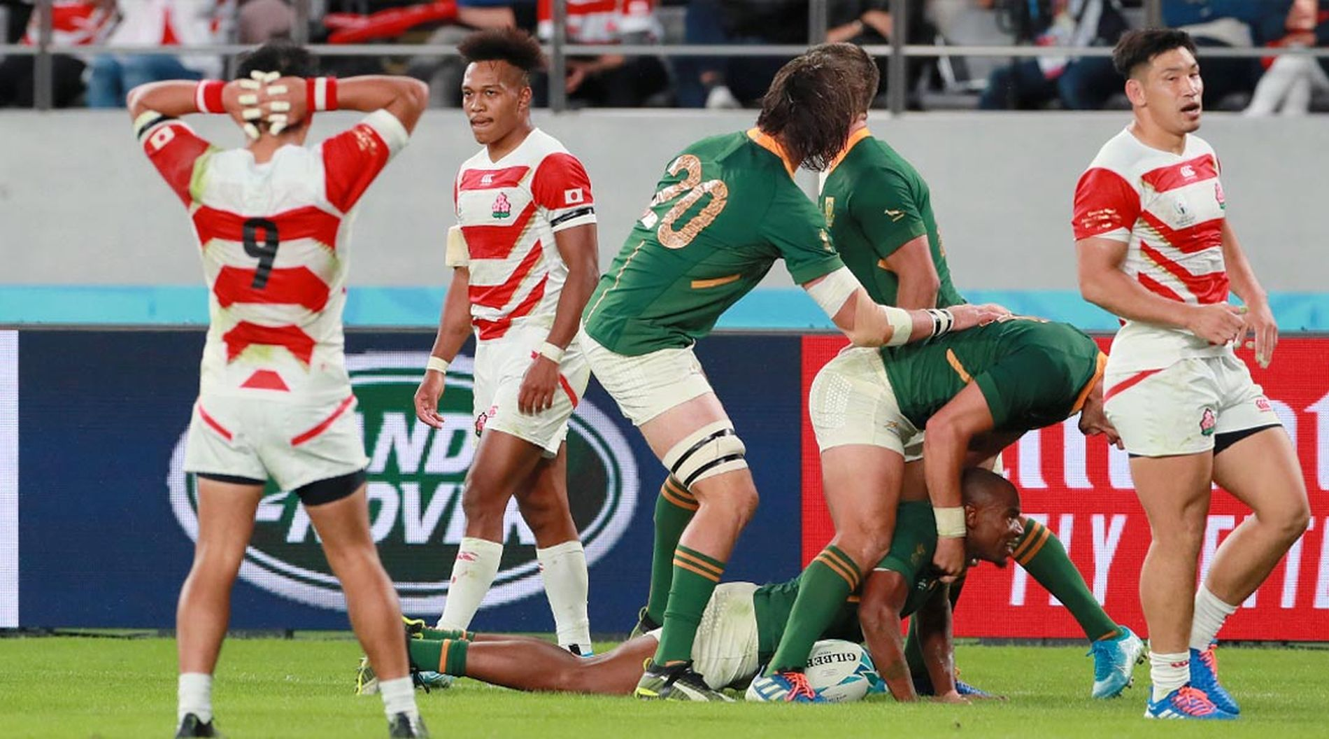 South Africa Ends Japan's One Team Winning Streak to Move On to 5th RWC Semi-Final