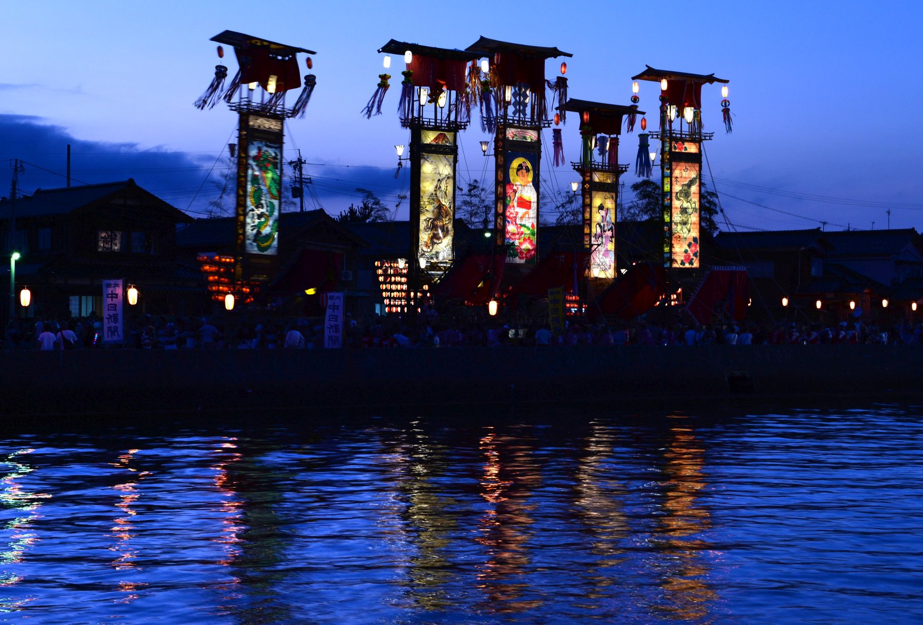 Beautiful Japan   Lanterns Over the Dark Sea Create Dreamlike Kiriko Festival on Noto Peninsula