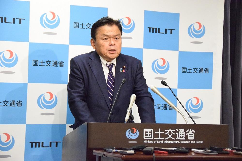 MLIT Minister Kazuyoshi Akaba