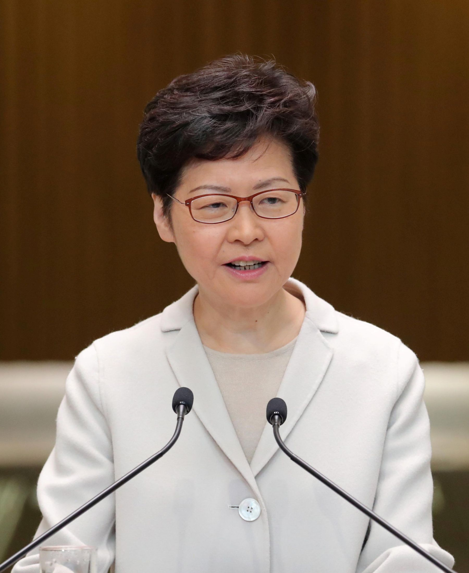 Hong Kong chief executive Carrie Lam news briefing after local elections