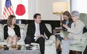 Sakie Yokota and US Ambassador Haggerdy-300×186