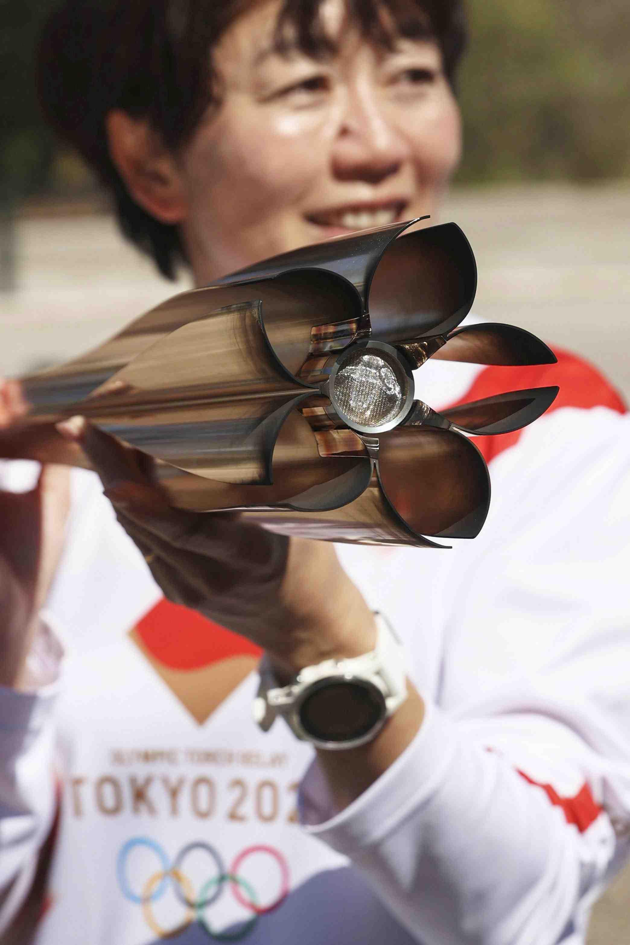 2020 Tokyo Olympics Torch Flame and Coronavirus 008