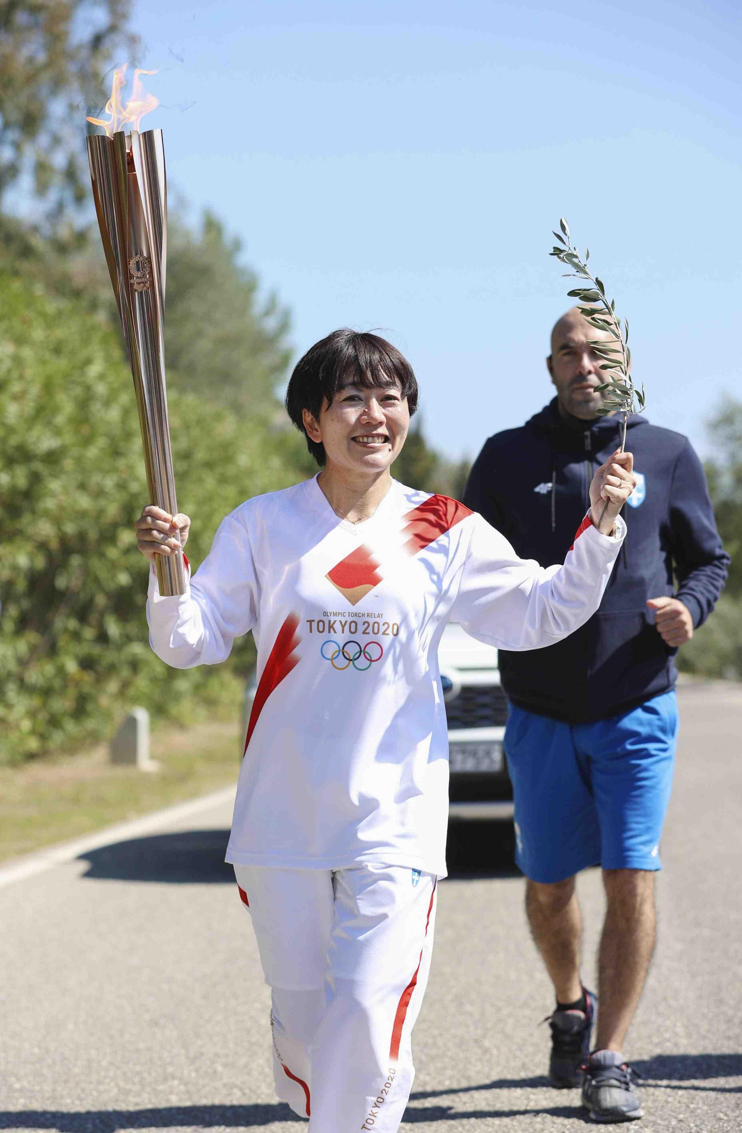 2020 Tokyo Olympics Torch Flame and Coronavirus 012