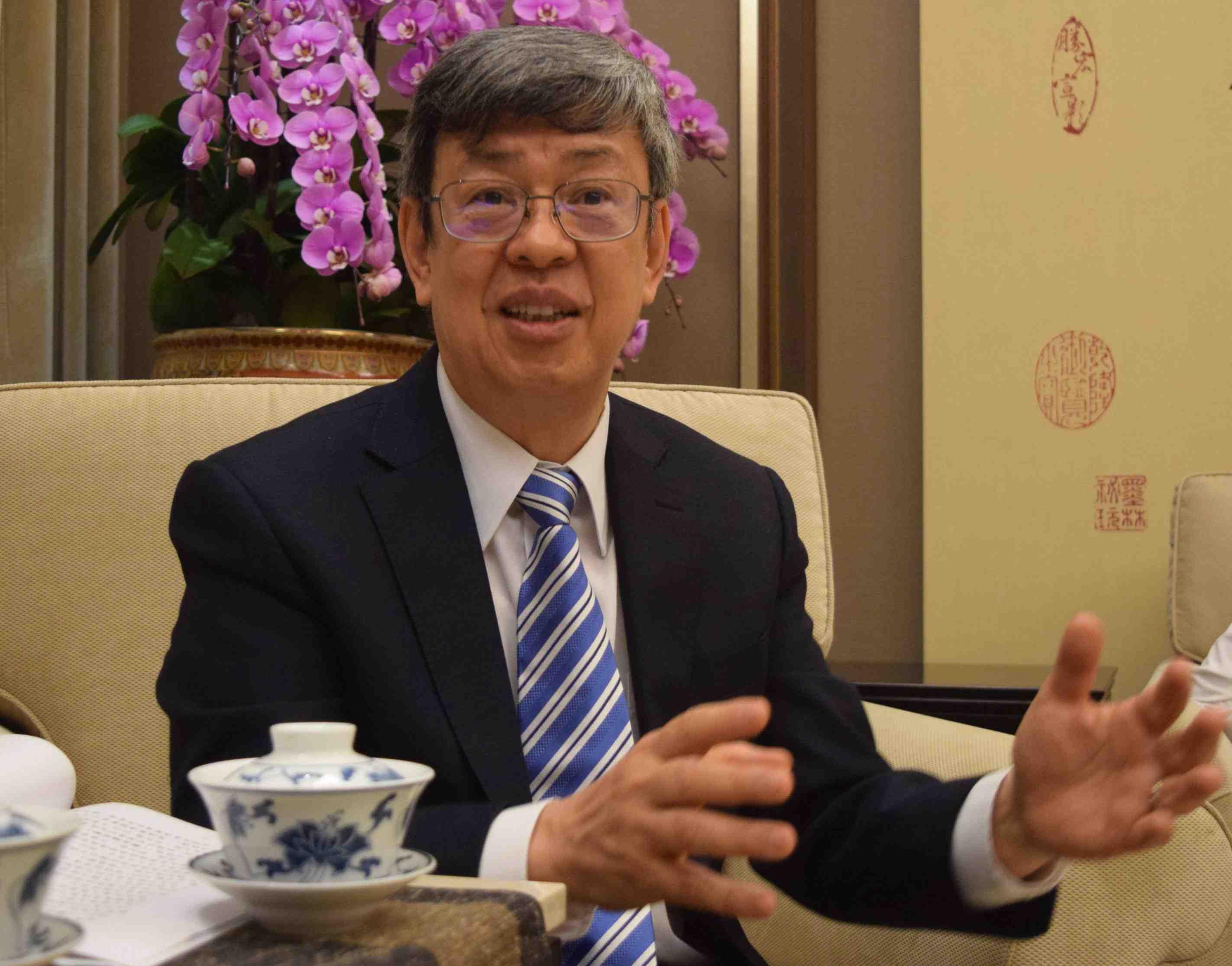 Interview with Taiwan VP on Coronavirus 005