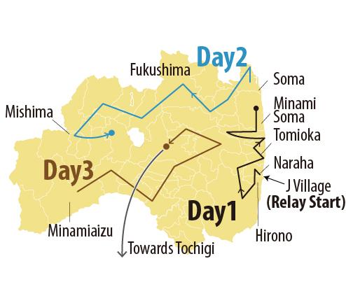 JF Fukushima Torch Relay Route