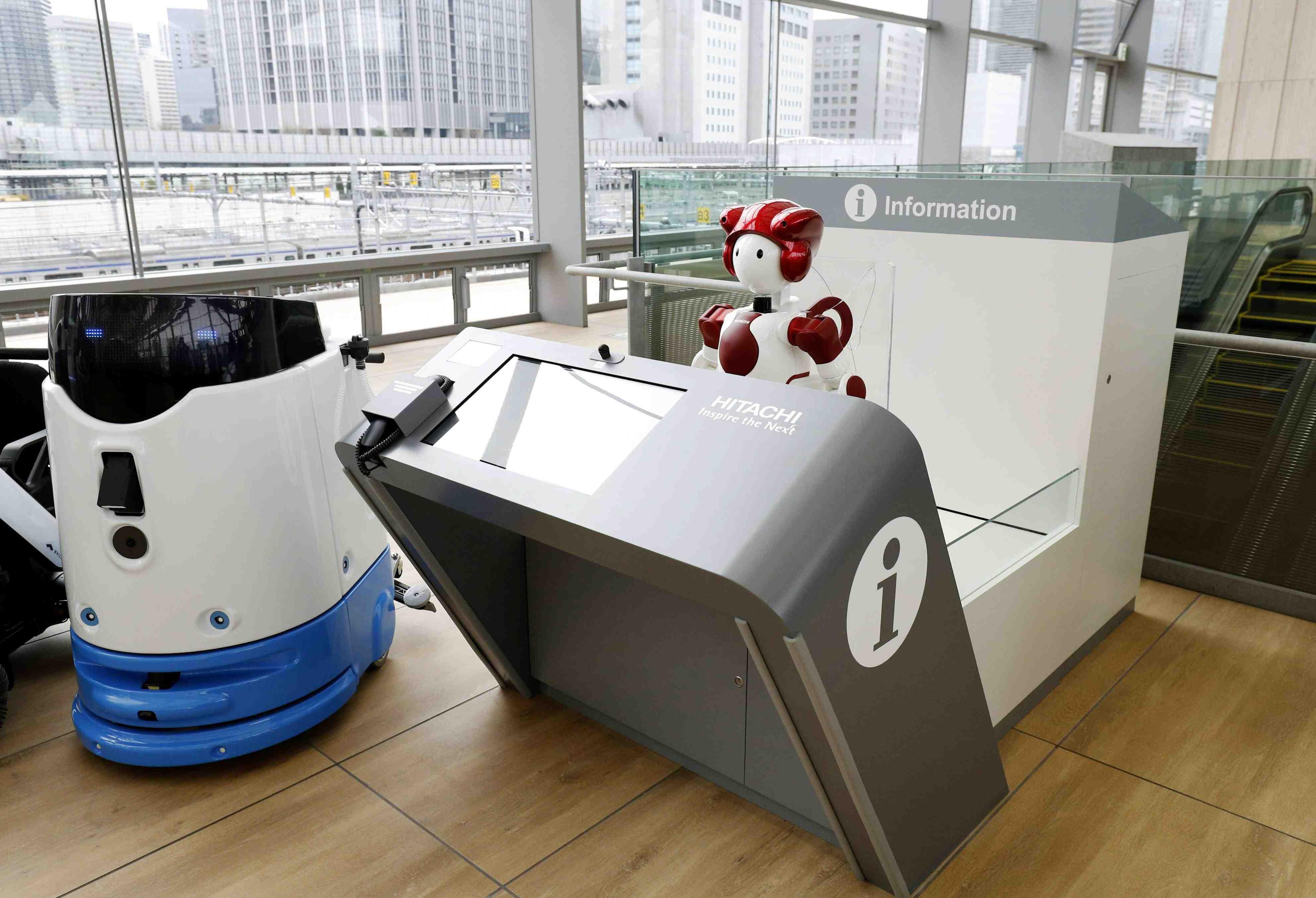 JR Takanawa Gateway Station Opening Robots AI 004