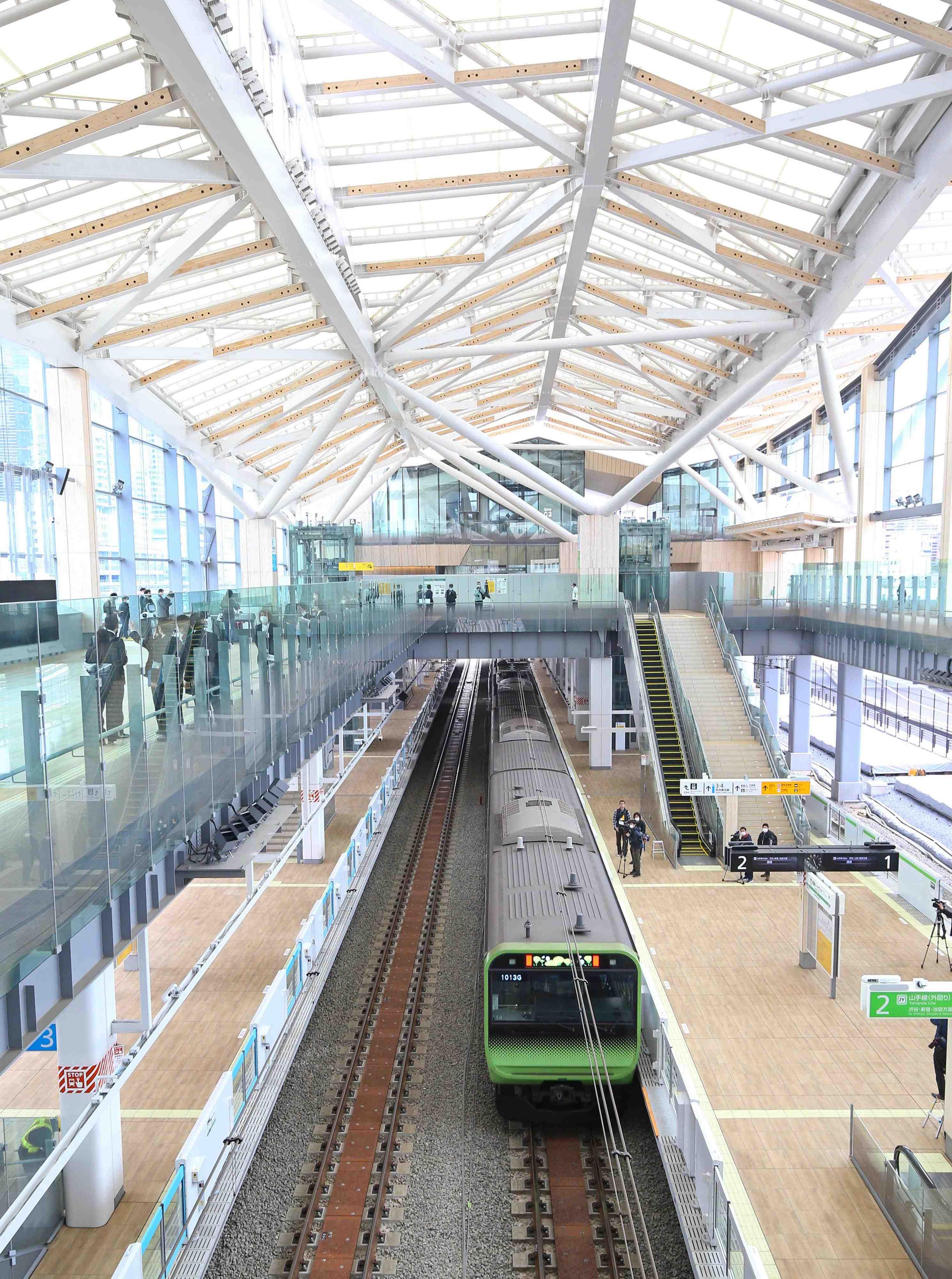 JR Takanawa Gateway Station Opening Robots AI 007
