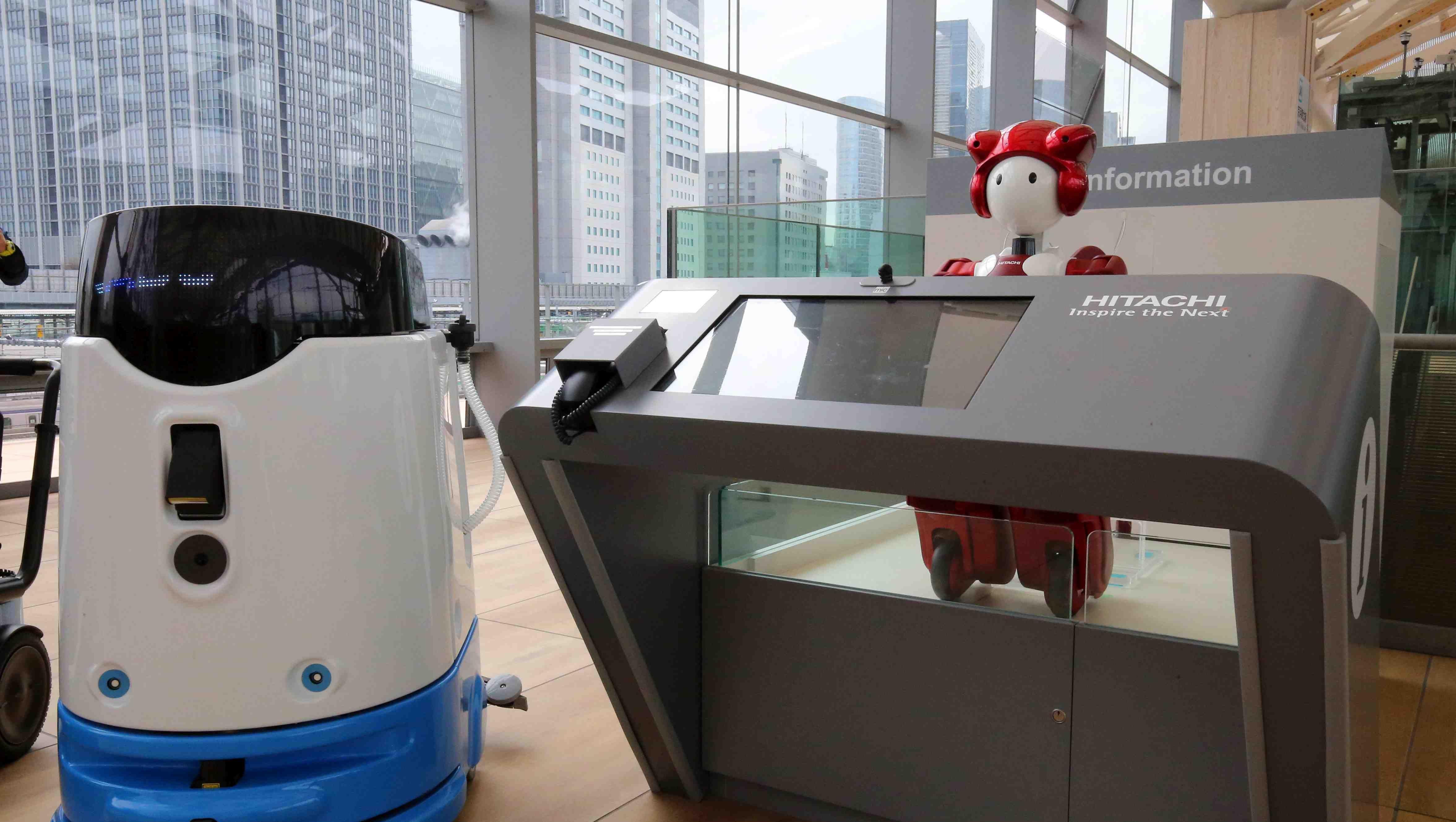 JR Takanawa Gateway Station Opening Robots AI