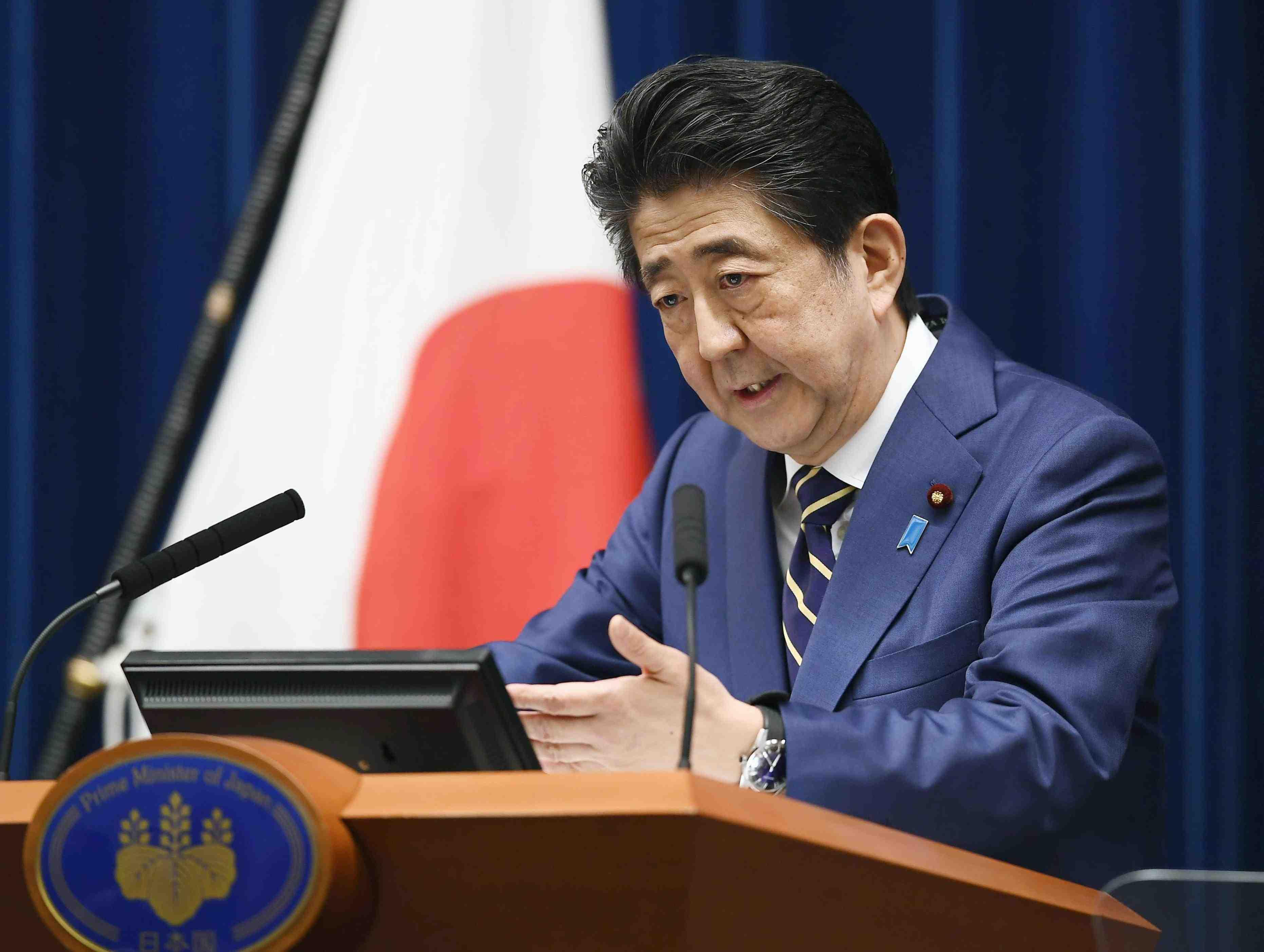 Japan PM Shinzo Abe Coronavirus 008