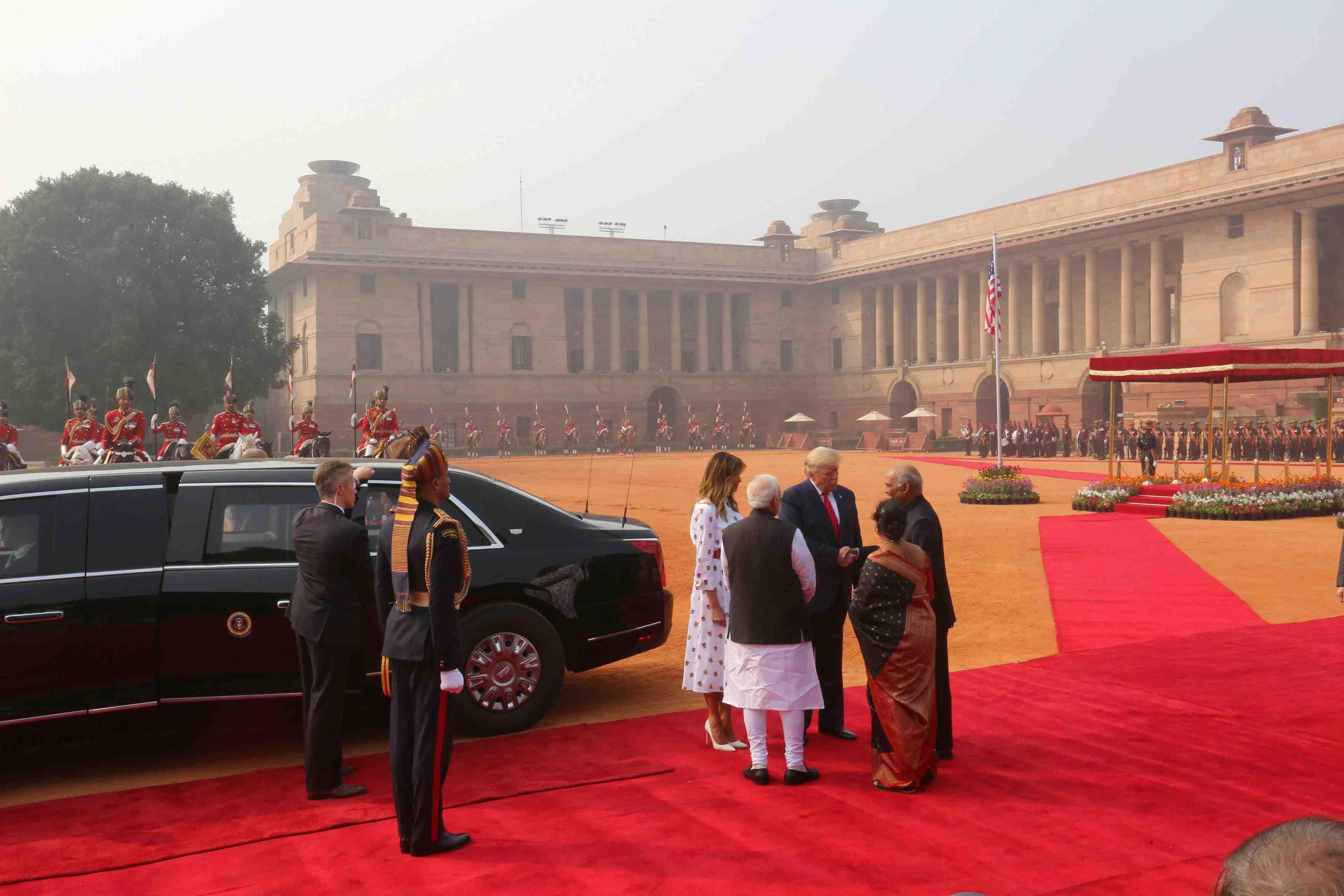 U.S. President Donald Trump visits India